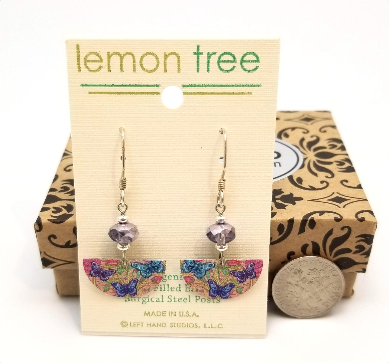 butterfly earrings by Lemon Tree