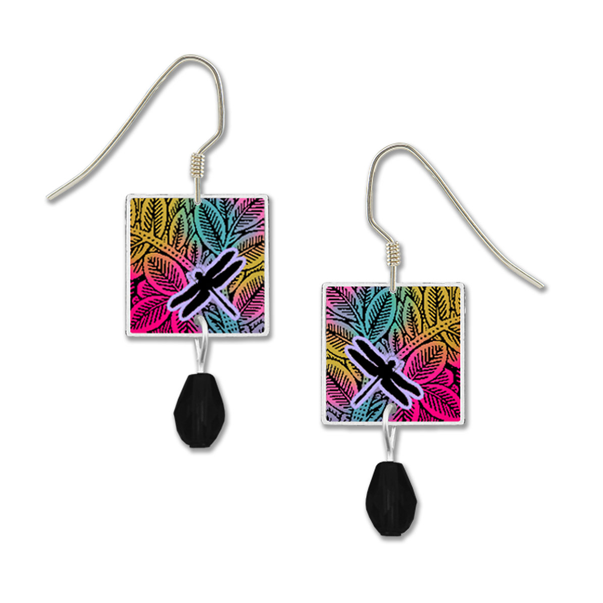 Colorful Dragonfly earrings