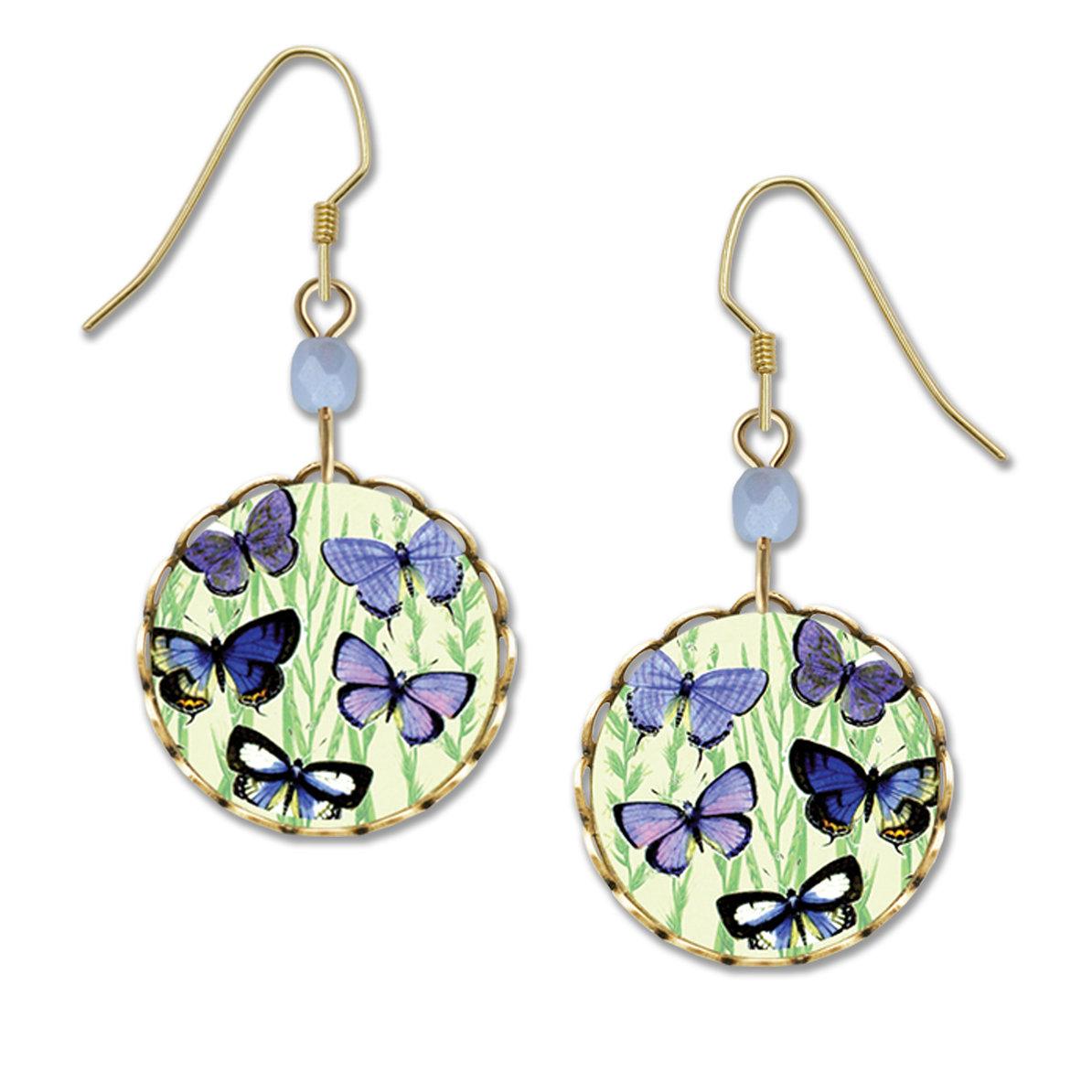 blue morpho butterfly earrings by Lemon Tree