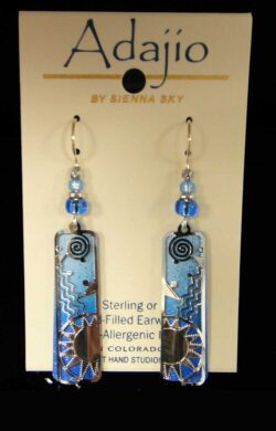 Light blue sun column Adajio earrings
