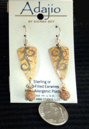 Light orange Adajio dangle earrings by Barbara MacCambridge