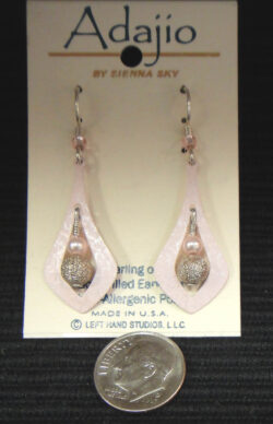 Adajio pink dangle earrings by Barbara MacCambridge