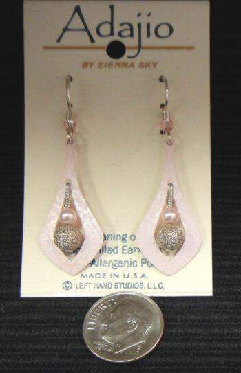 Adajio pink dangle earrings by Barbara MacCambridge