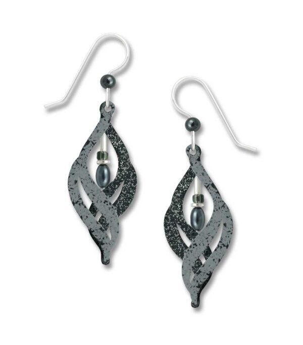 light and dark swirl earrings from Adajio