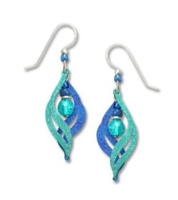 Teal and blue Adajio earrings