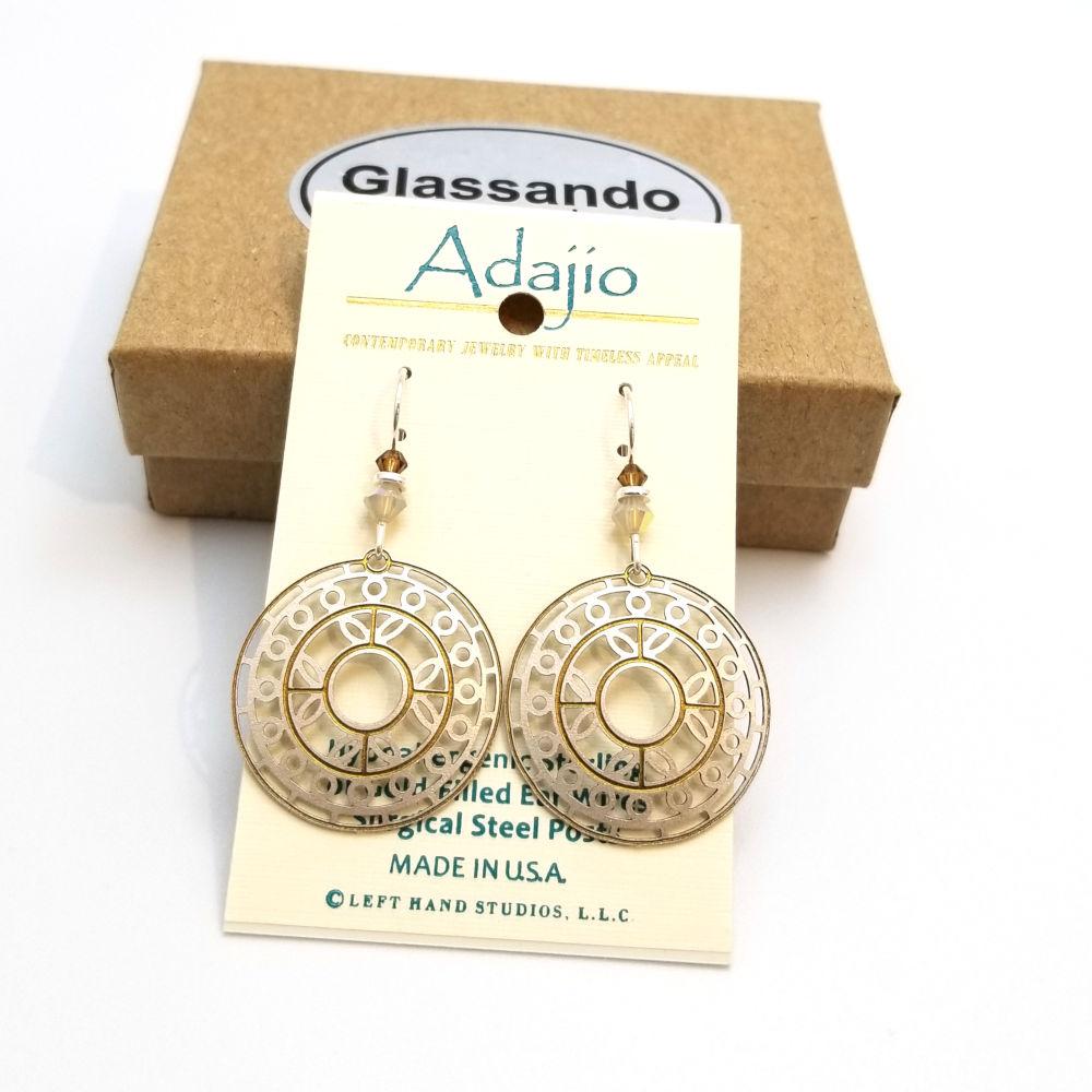 light tan Adajio earrings