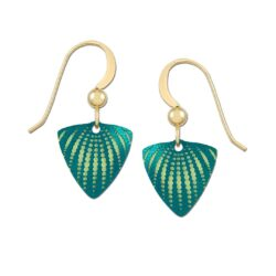 dark green triangle shape Adajio earrings