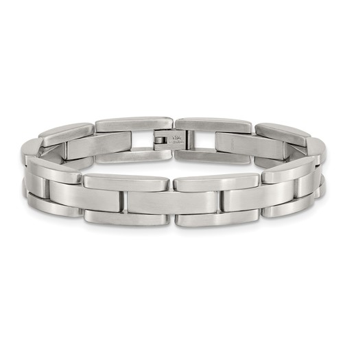Brushed Finish 8 inch stainless steel bracelet