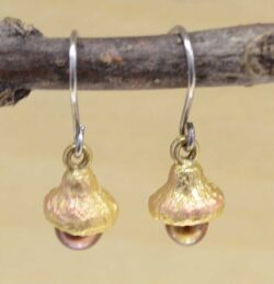 These acorn earrings are handmade by Michael Michaud as part of his Silver Seasons collection.