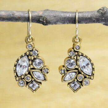 Patricial Locke Adele goldtone earrings in All Crystal