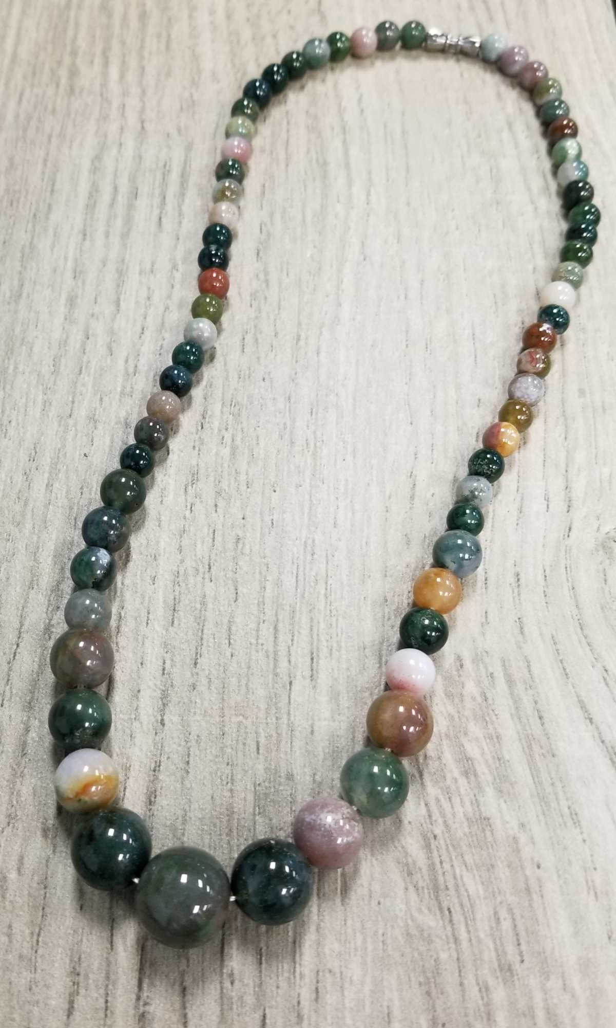 Agate Necklace for Engagement Gift
