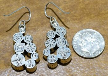 Patricia Locke Billie earrings in All Crystal Back with dime