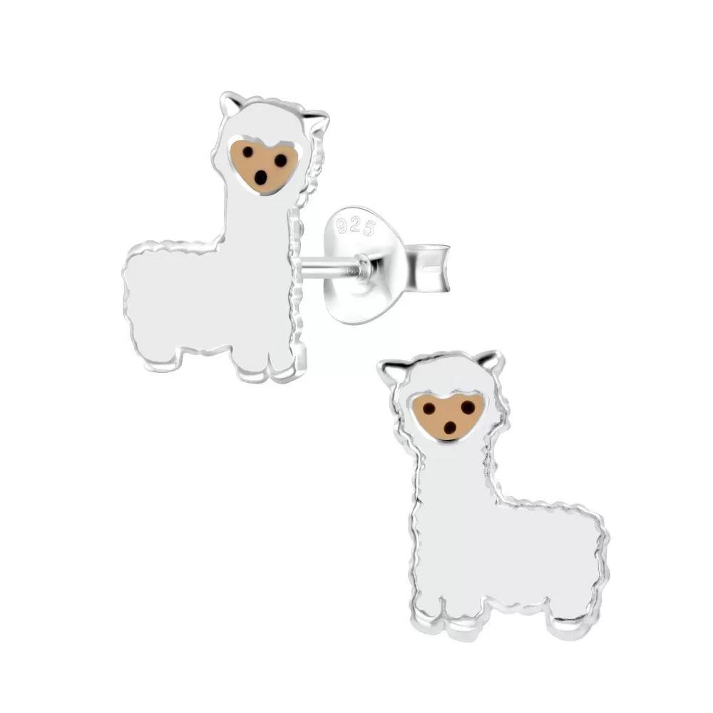 alpaca post earrings