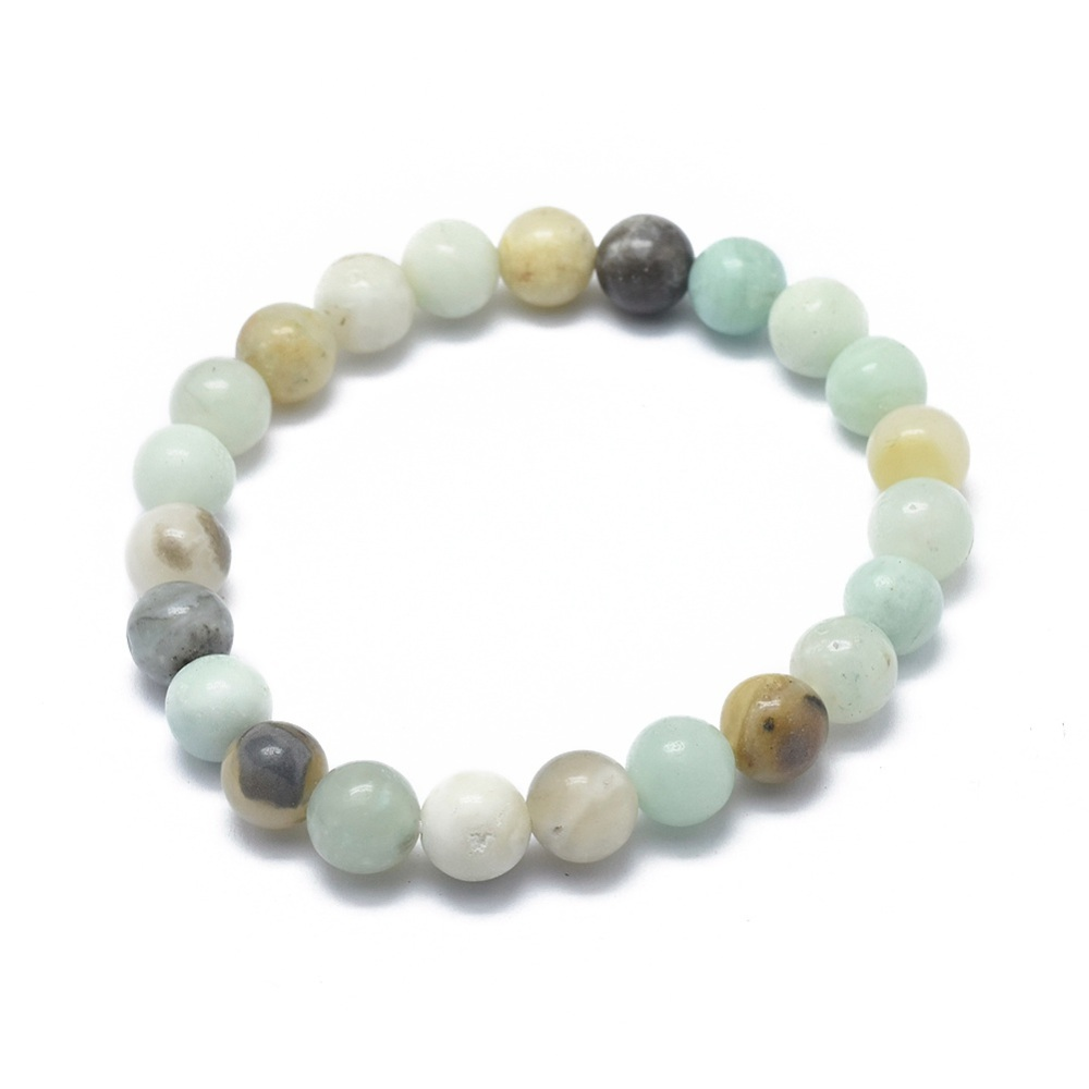 light blue amazonite stretch bracelet