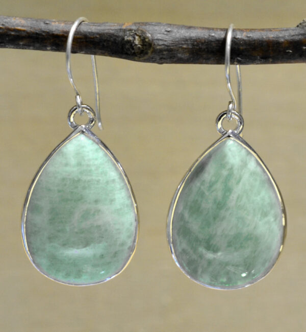 blue amazonite drop earrings