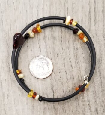 amber heart bracelet from the top