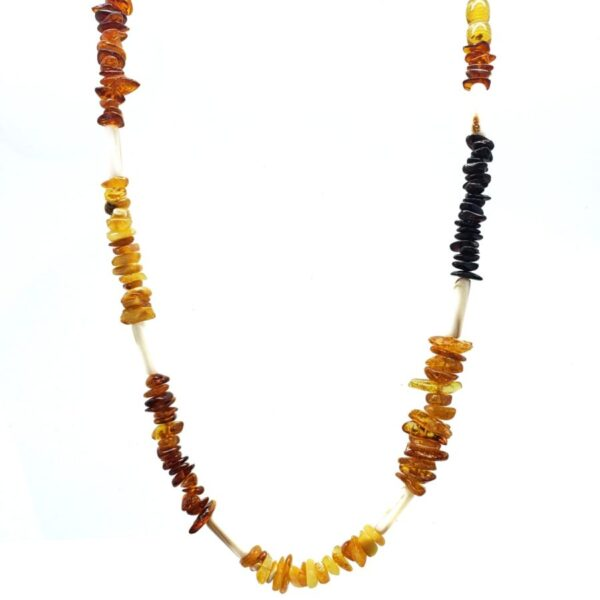 amber and shell beaded necklace