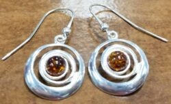 Handmade artisan sterling silver swirl earrings