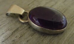 amethyst and sterling silver pendant by Dale Repp