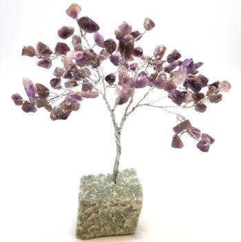 amethyst crystal gemstone tree sculpture