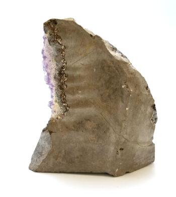back of amethyst geode