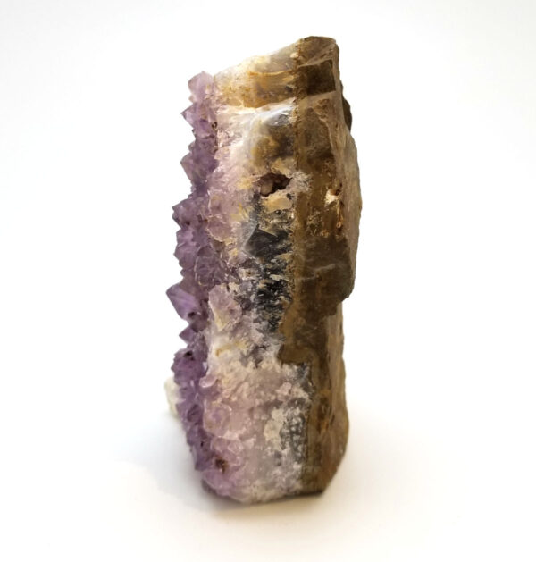 amethyst crystal geode point - side view