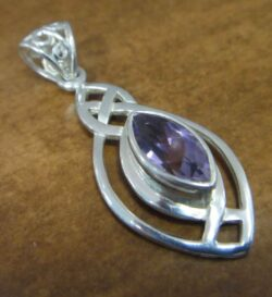 Amethyst and sterling silver pendant by Anna King Jewelry