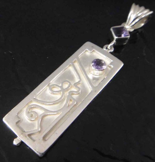 amethyst sterling silver pendant
