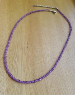 petite amethyst beaded necklace