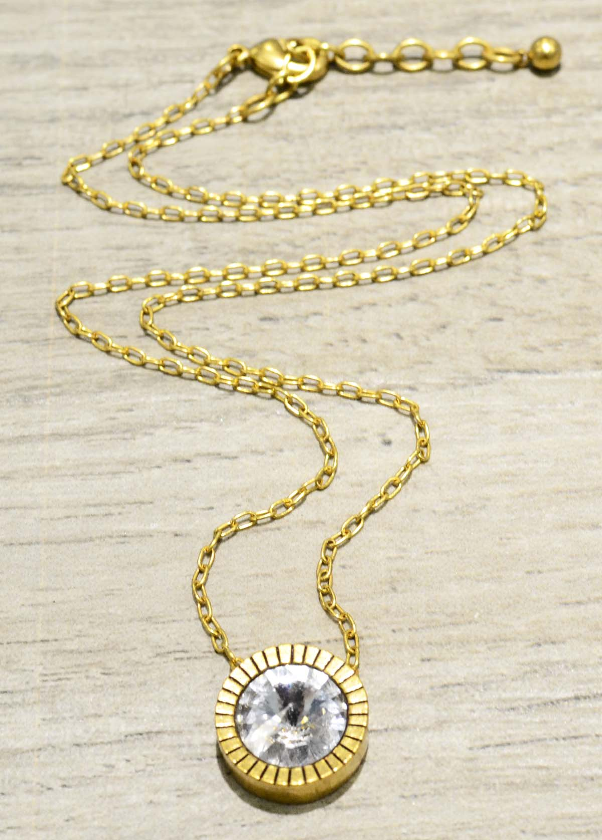 "Apex necklace in color ""All Crystal"" by Patricia Locke"