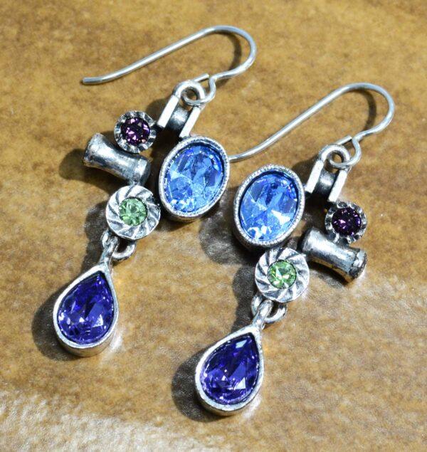 "Arcana earrings in color palette ""Waterlily"" by Patricia Locke"