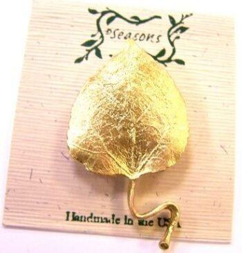 Michael Michaud Seasons aspen leaf brooch pin