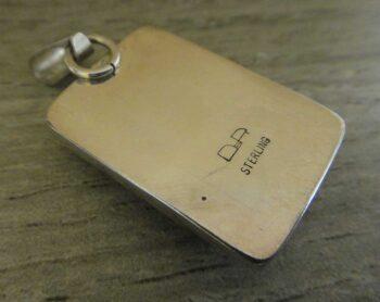 back of autumn leaf jasper pendant
