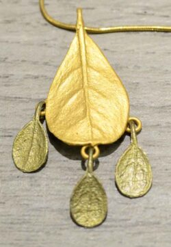 This bronze Bahamian Bay leaf necklace is a part of Michael Michaud's Silver Seasons collection.