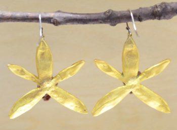 Michael Michaud Silver Seasons Banana Split Orchid earrings back