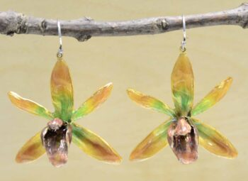 Michael Michaud Silver Seasons Banana Split Orchid earrings