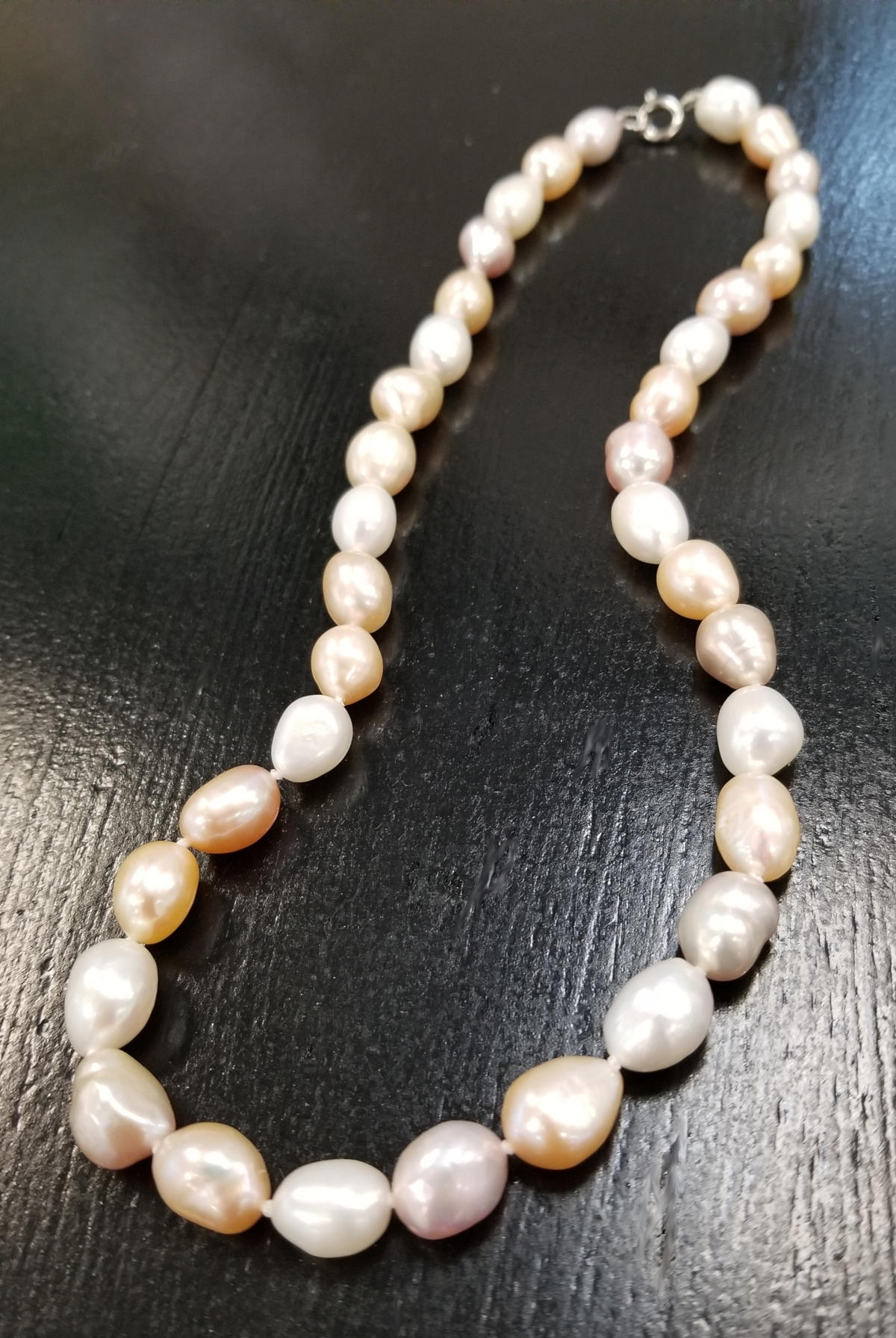 baroque shaped freshwater pearl necklace