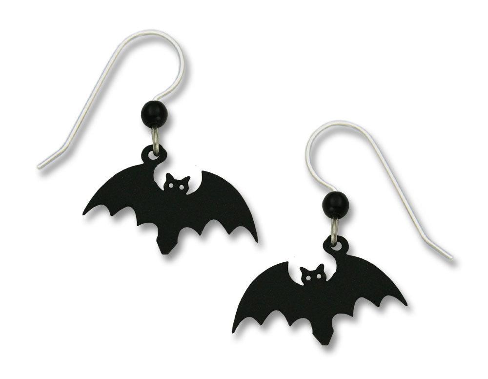 Batt earrings with sterling silver ear-wire