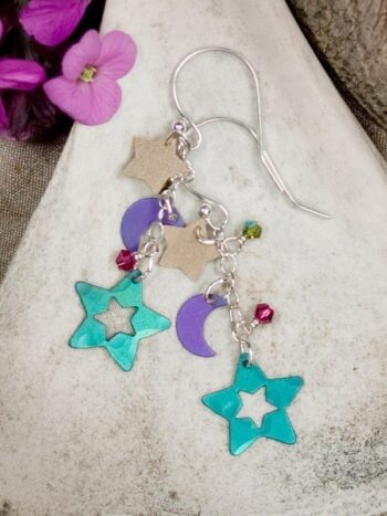 Holly Yashi star and moon earrings