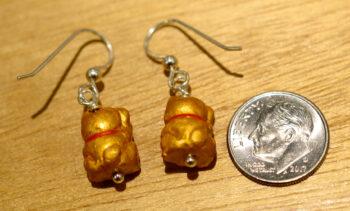 back of lucky cat earrings