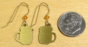 back of beer mug earrings