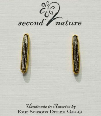 Second Nature Jewelry birch bark twig long post earrings