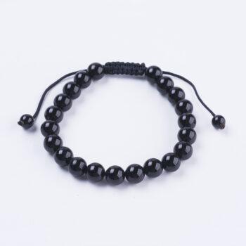 black agate adjustable bracelet