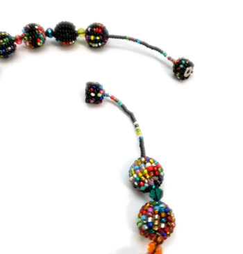 woven seed bead necklace magnet clasp