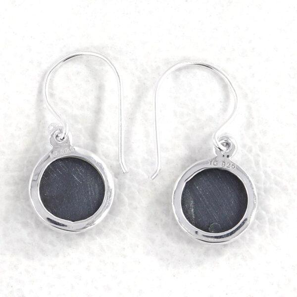 back of black onyx circle earrings
