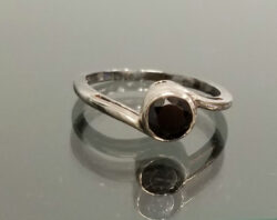 black onyx bypass sterling silver ring