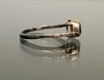 side view of black onyx bypass ring