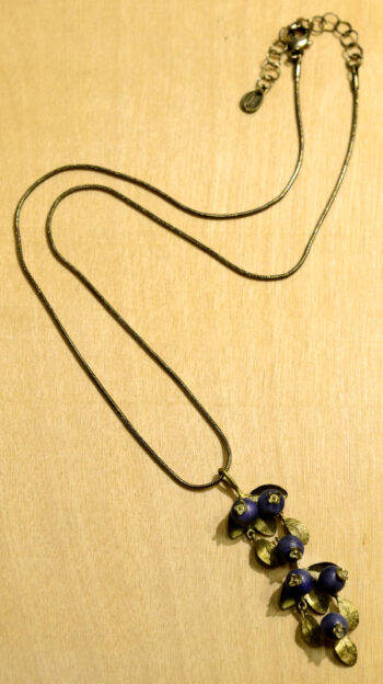 Michael Michaud Silver Seasons blueberry pendant necklace