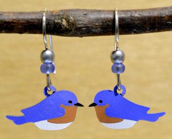 eastern bluebird handmade Sienna Sky earrings