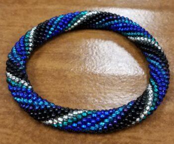 Czech glass roll-on bracelet